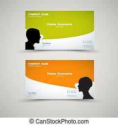 Vector Set of modern business card templates