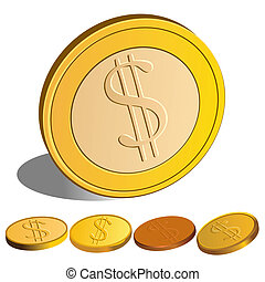 vector set of Money Dollar