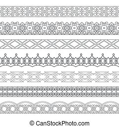 Vector set of monochrome dividers