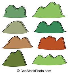 vector set of mountain cartoon