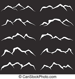 vector set of mountains