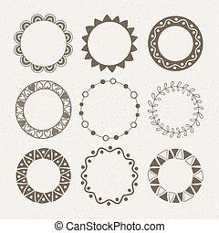 Vector set of nine different frames.