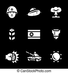 Vector Set of North Korea Icons.