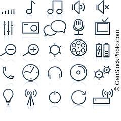 multimedia Icons - Vector set of original multimedia Icons