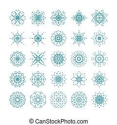 Vector set of ornamental snowflakes