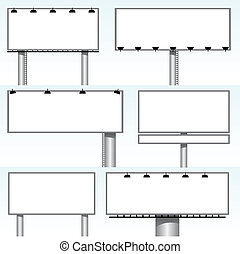outdoor billboards - vector set of outdoor billboards
