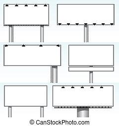 outdoor billboards - vector set of outdoor billboards