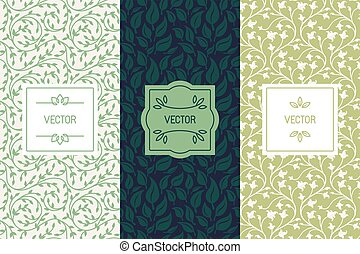 Vector set of packaging design templates for cosmetics, ...