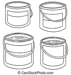 vector set of paint bucket