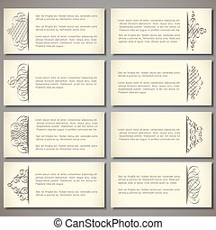 Vector set of paper banners