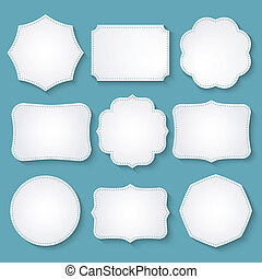 Vector set of paper frames