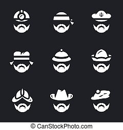 Vector Set of People Icons. - Builder, biker, sailor,...