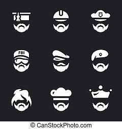Vector Set of People Icons.