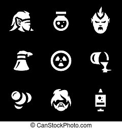 Vector Set of People Mutation Icons.