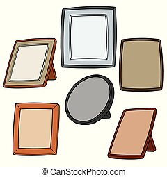 vector set of photo frame
