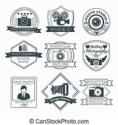 Vector Set of Photography Badges