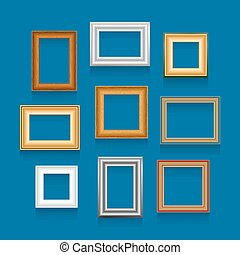 Vector set of picture frames. - Vector set of picture frames...