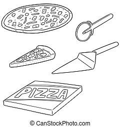 vector set of pizza