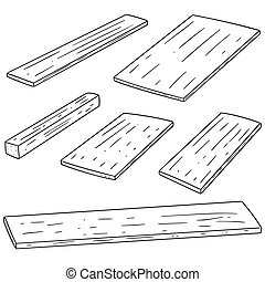 vector set of plywood