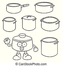 vector set of pot