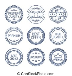 Vector set of premium labels
