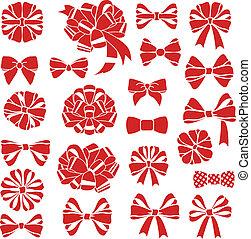 present bows - vector set of present bows