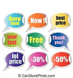 vector set of promo stickers