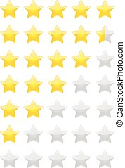 Rating Stars - Vector set of Rating Stars