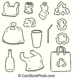 vector set of recycle item