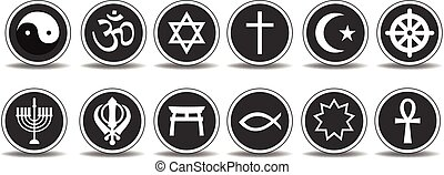 Religious Icons - Vector set of Religious Icons