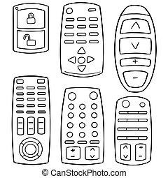 vector set of remote control