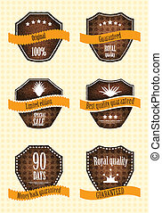 Vector set of retro labels