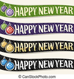 Vector set of ribbons for New Year