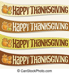 Vector set of ribbons for Thanksgiving day