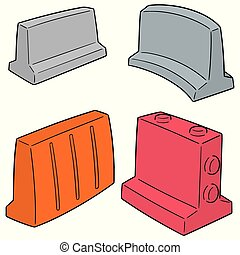vector set of road barriers