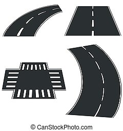 vector set of road