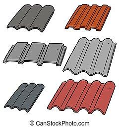 vector set of roof tile