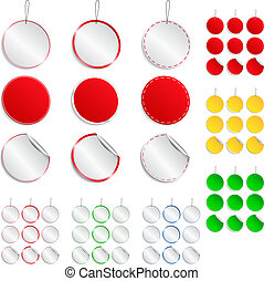 Vector set of round stickers
