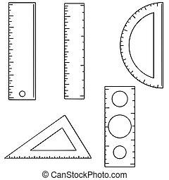 vector set of ruler