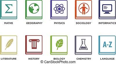 Vector Set of School Icons.