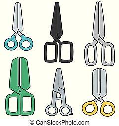 vector set of scissors