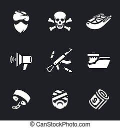 Vector Set of Sea pirates. - Pirate, skull and crossbones, ...