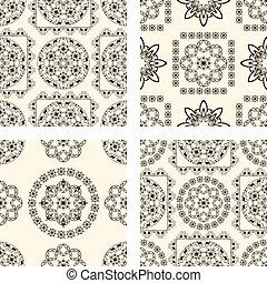 vector set of seamless vintage patterns