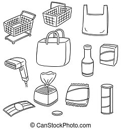 vector set of shopping icon