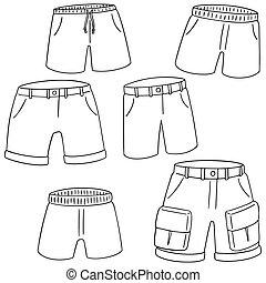 vector set of shorts