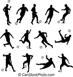 vector set of silhouettes