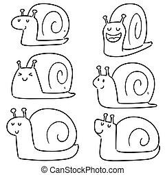 vector set of snail