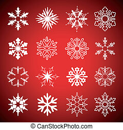 Vector set of snowflakes
