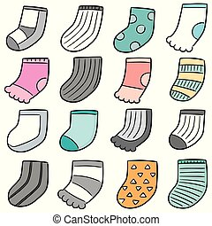 vector set of socks