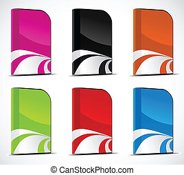 Vector set of software boxes - Set of software boxes. Vector...